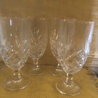 Elegant cut glass water/tea goblets. Heavy crystal. Set of 4.