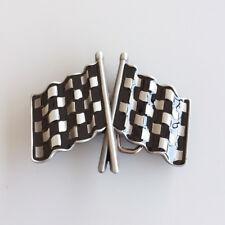 Men Belt Buckle Car Racing Flag Belt Buckle Gürtelschnalle Boucle de ceinture