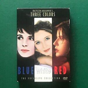 Three Colours Blue White Red DVD Krzysztof Kieslowski Exclusive Collection