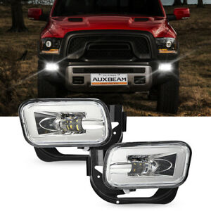 For 2009-2012 Dodge Ram 1500/ 2010-2018 2500 3500 Fog Lights w/Bulbs & Bracket