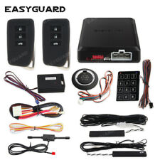 Easyguard security pke car alarm remote start push button keyless go auto lock
