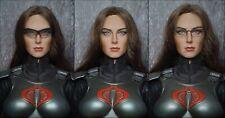 1/6 SIDESHOW COLLECTIBLES G.I. Joe Baroness Figure Replaced Head Sculpt & Belt
