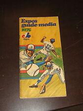 1975 MONTREAL EXPOS BASEBALL MEDIA GUIDE GARY CARTER