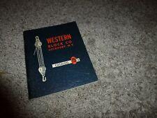 1962 Western Block Co. Lockport Ny Illustrated Catalog 75 A Anvil Brand
