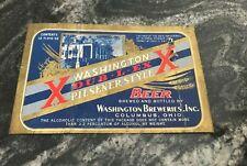 Vintage Irtp Washington Dub-L-Ex Beer - Brewing 12 Oz Bottle Label Columbus Oh