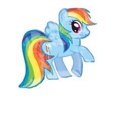 71cm Mágico Rosa arcoiris Raya My Little Pony Cumpleaños metalizado con forma