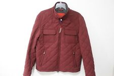 Isaia Quilted Wool-Blend Shirt Jacket - Red Men Coats & Jackets 50R ($2895) NEW