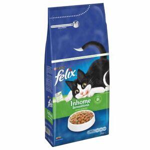 Felix Indoor Sensations Complete Balanced Dry Cat Food With Fish *3 x 2kg Pack*