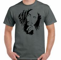 Bob Marley T-Shirt, Mens Reggae Unisex Top Jamaica Wailers Jamaican Flag