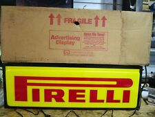 "Pirelli Double Sided Lighted Sign 36"" X 12""  New Old Stock Original box Dualite"