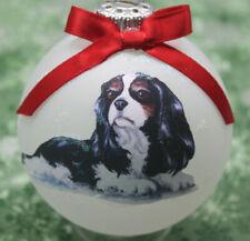 D181 Hand-made Christmas Ornament dog - Cavalier King Charles Spaniel - tri lay