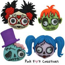 Demenziale ZOMBIE dress It Up Novità Craft pulsanti Monster Goth Halloween Ragazza Frank