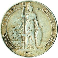1906 ONE FLORIN / TWO SHILLING / EDWARD VII. / BRITANNIA STANDING  #WT4828