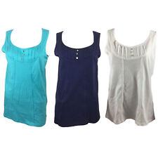 Womens Cotton Vest Top Crochet Plus Size 10 12 14 16 18 20 22  24 ex High Street