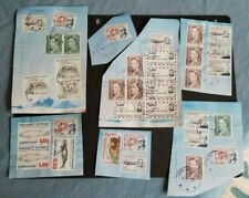 Greenland, nice lot of used stamps on pieces