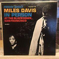 [JAZZ]~EXC/VG+ LP~MILES DAVIS~IN PERSON~At The BLACKHAWK~FRIDAY NIGHT~[1961~MONO