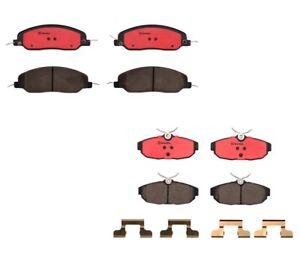 Brembo Front and Rear Ceramic Brake Pad Set Kit For Ford Mustang GT Base Bullitt