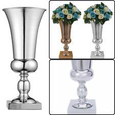 45cm Large Stunning Silver Iron Luxury Flower Vase Urn Wedding Table Home Decor