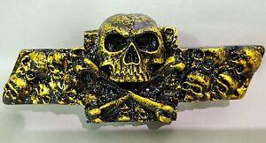 Chevy S10/Blazer Custom Skull Emblem - Gold Kandy by Sloan Product