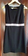 Mini abito nero con fascia centrale taglia M