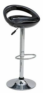 Home Ottawa Gas Lift Bar Stool - Black
