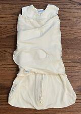 Halo Sleepsack Swaddle Wearable Blanket Unisex Cream Cotton NB Sz 0-3m 6-12 lb