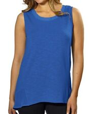 New Adrienne Vittadini Ladies High-Low Sleeveless Top Tank Top Small S True Blue