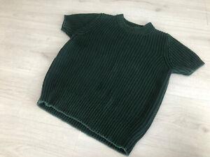 COS Dark Green Chunky Knit S/S Jumper Sz S - Over Shirt Jumper Autumn Layers
