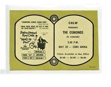 The Osmonds 1972 Cobo Hall Concert Ad Cklw Music Radio Survey