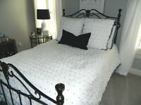 Anthropologie Madia Queen Size White Comforter