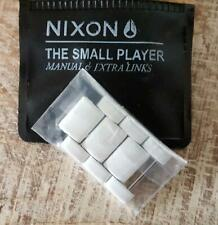NIXON The Small Player Spare Links for All White watch BRAND NEW IN SEALED PACK