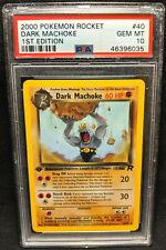 2000 Pokemon Team Rocket 1st Edition #40 Dark Machoke PSA 10 Gem Mint 40/82