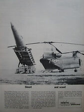5/1963 PUB BOEING VERTOL CH-47A CHINOOK US ARMY HELICOPTER PERSHING MISSILE AD