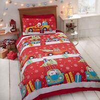 "Rapport ""Christmas Delivery"" Kids Children's Xmas Santa Duvet Cover Bedding Set"