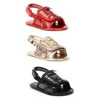 MICHAEL Michael Kors Girls' Baby Gear Slide Crib Shoes Sandals Red Black Gold