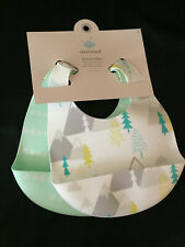 New Cloud Island Silicone Bibs 2 Pack Mountains Ages 3 Plus