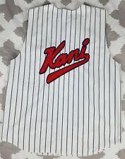 Karl Kani Vintage Sleeveless Pinstripe Baseball Jersey sz 2XL XXL Varsity Logo
