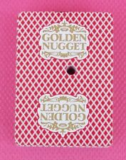 Golden Nugget Casino Used VINTAGE Deck of Red Playing Cards Gold Logo 8 5 94