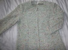 St John Collection Jacket Size 6 Novelty Knit Textured Princess Seams Full Zip