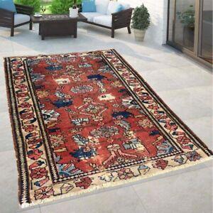 13388 Afghan Handmade Rug Flatweave Rug Oriental Tribal Floor Wool Kilim Rug 2x4