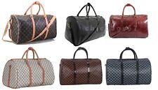 Leather Style Faux Leather Luggage Holdall Weekend Duffel Cabin Travel Gym Bag