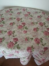 "UK Stock New Elegant Wipe Clean Tablecloth Vinyl PVC Printed Flower Lace 54""x72"""