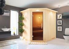 Karibu Sauna SIIRIN 196x170 cm inkl. 9 KW Ofen ext. Strg AKTION 68mm