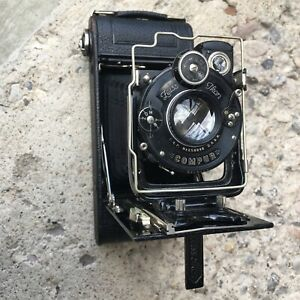 Zeiss Ikon Icarette 6x9 120 Film Folding Camera film-tested 105mm F4.5 Tessar