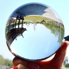 Clear Glass Crystal Ball Healing Sphere Photography Props Gift DIY Decor 30-50mm