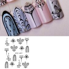 Nail Art Water Decals Stickers Transfers Necklace Jewellery Lace Flowers (497)
