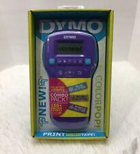 NEW Dymo Colorpop! Color Label Maker Combo Pack Printer Plus 3 Color Tapes