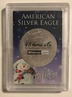 SNOWMAN - HAPPY HOLIDAYS! - CUSTOM FROSTY HOLDER - FOR American Eagle 1 oz. COIN