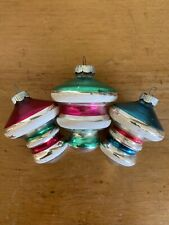 Lot of Three Shiny Brite Christmas Ornaments