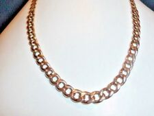 9ct GOLD CHAIN Albert Link CURB  18 - 18.25 inches